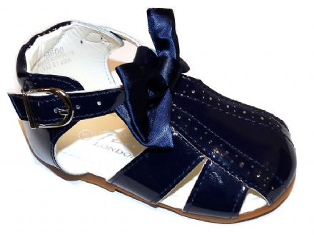 Navy Sandals with Bow